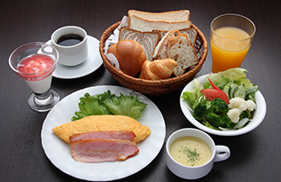 朝食バイキング:洋食メニュー例